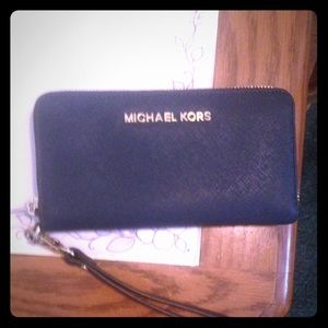 Michael Kors wallet with strap